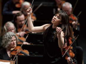 Sarah Hicks, shown here with the Minnesota Orchestra Photograph by Greg Helgeson