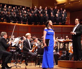 Susanna Phillips and Charles Dutoit receive an ovation Friday night Photos by Michael Strickland