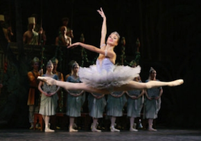 "Svetlana Zakharova in the Bolshoi's La Bayadere,"" with fellow principal dancers Maria Alexandrova, Dmitry Belogolovtsev and Alexander Fadeyechev."