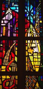 Stained glass windows of the Episcopal Church of the Incarnation in the Sunset, home to a new concert series