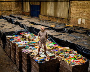 Zero Freitas with a tiny portion of his collection Photo by Sebastián Liste/Noor