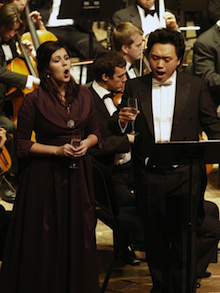 Soprano Amanda Woodbury and tenor Li Yi (Merola, 2012) both sang in Operalia 2014 Photo by Cara Owsley