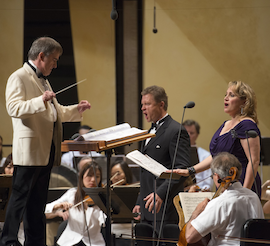 Patricia Racette and Egils Silins in the Ravinia <em>Salome</em>, James Conlon conducting Photo by Patrick Gipson
