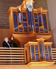 Schroeder Hall's Brombaugh organ, with organist James David Christie