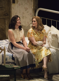 Adelaide Boedecker (Stella Kowalski) and Julie Adams (Blanche DuBois) Photos by Kristen Loken