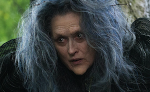 Meryl Streep as the Witch in the film, before transformation (disregard implied spoiler)