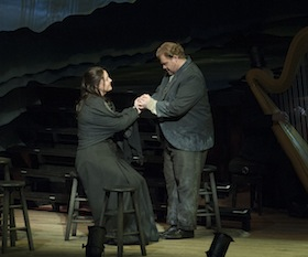 Soprano Elza van den Heever as Ellen Orford and tenor Stuart Skelton as Peter Grimes