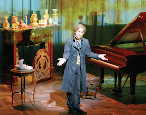 "Hershey Felder portrays the great Romantic composer and pianist in ""Monsieur Chopin"" at the Berkeley Repertory Theatre through next week."