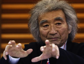 Seiji Ozawa at a news conference last December Photo by Yuya Shino/Reuters