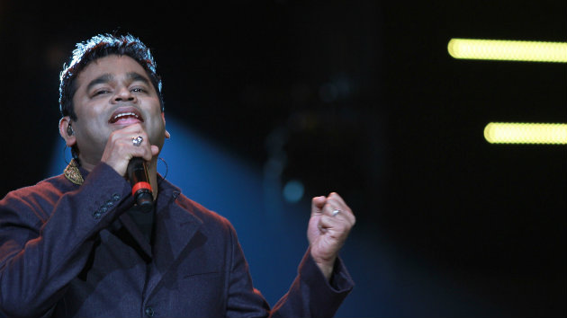 Rahman in performance in Nehru Stadium, Chennai (Madras)