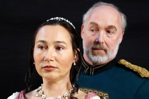 Tatiana and Prince Gremin (Photo courtesy of Otak Jump/West Bay Opera)