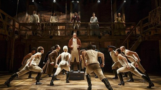 Scene from <em>Hamilton</em> on Broadway (Photo by Joan Marcus)
