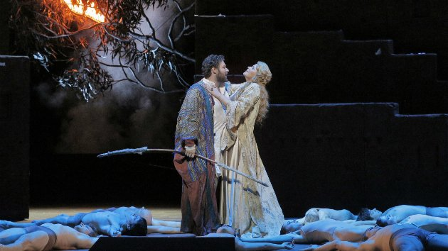 Brian Hymel, with Susan Graham, in <em>Les Troyens</em> (Photo by Cory Weaver/San Francisco Opera)