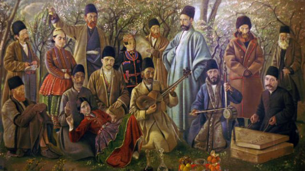 A 17th century painting of musicians from Isfahan, Iran