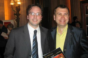 Matthew Shilvock with Dmitry Samitov, General Manager of Volgograd Music Theater