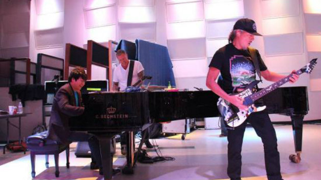 Lang Lang rehearsing with Metallica for the 56th GRAMMY awards.