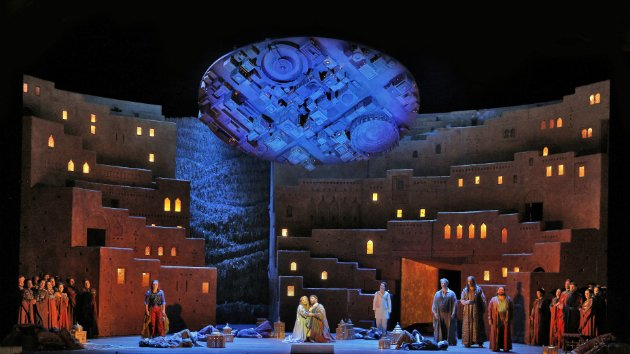 "Love Scene from Act IV of Berlioz's ""Les Troyens."" (Photo: Cory Weaver/San Francisco Opera)"