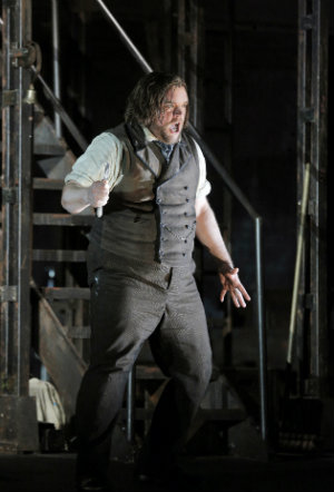 Baritone Brian Mulligan in the title role of Sondheim's <em>Sweeney Todd</em> (Photo by Cory Weaver)