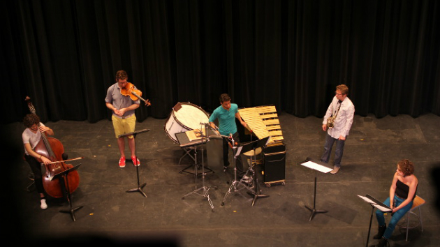 The Now Hear Ensemble performing.