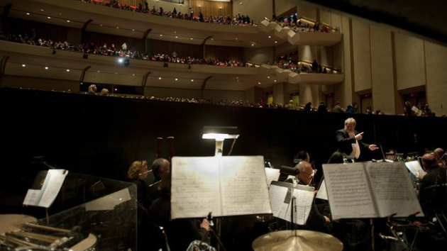 A view from the pit of the Sacramento Philharmonic.