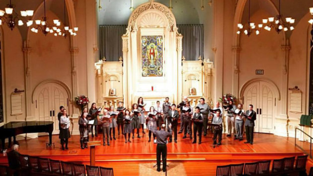 Volti performing at St. Mark Lutheran Church (Photo courtesy of Volti San Francisco)