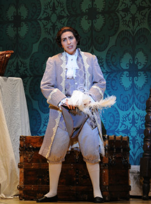 Opera San José guest artist Karin Mushegain as Cherubino (Photo by Pat Kirk)