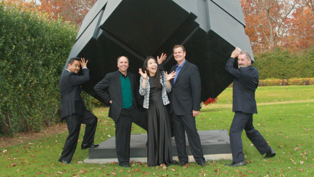 Pianist Joyce Yang and the Alexander String Quartet.