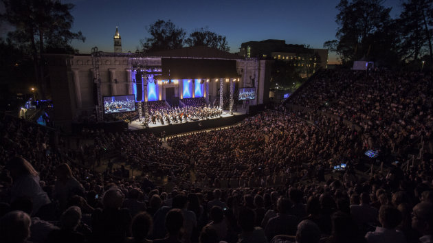 The Simon Bolivar Symphony Orchestra of Venezuela performing at the Greek Theatre (Photo by Peter DaSilva)