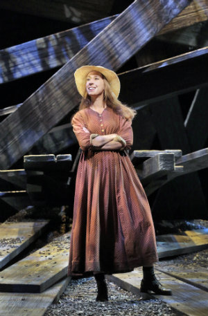 Emily Fons (Ruby Thewes) in Cold Mountain. (Photo by Ken Howard)