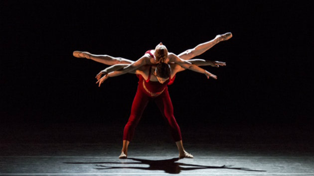 Alexsandra Meijer and Rudy Candia in <em>Glow Stop</em> (Photo by Alejandro Gomez)